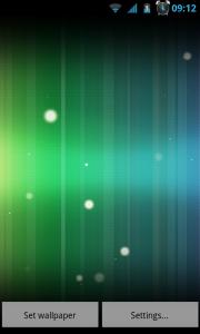 Spectrum ICS Live Wallpaper Pro - Different background color pre-sets