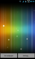 Spectrum ICS Live Wallpaper Pro - ICS colors