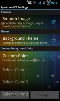 Spectrum ICS Live Wallpaper Pro - Settings