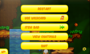 Toki Tori - Pause menu