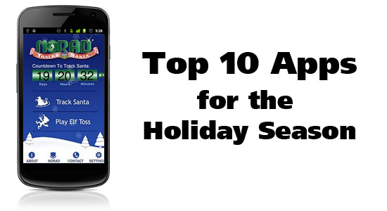 Top 10 Apps for the Holiday Season