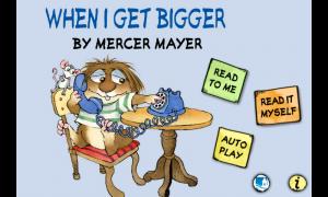 When I Get Bigger - Menu