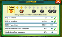 Zombies... OMG! - Daily goals