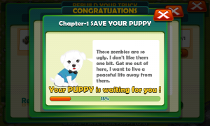 Zombies... OMG! - Save your puppy progression bar
