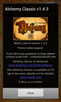 Alchemy Classic - New updates