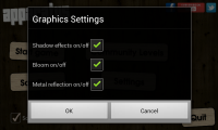 Apparatus - Graphics settings