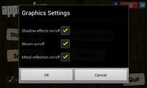 Apparatus - Graphics settings