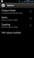 Audials - Options