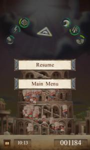 Babel Rising - Pause menu