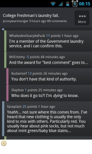 Bacon Reader - Comments section