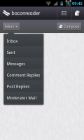 BaconReader - Service inbox