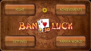 Ban Luck 3D - Menu