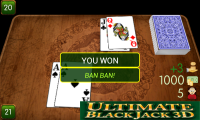 Ban Luck 3D - Winning game