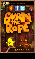 Burn the Rope - Main menu