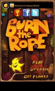 Burn the Rope - Main menu