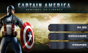 Captain America - Main Menu