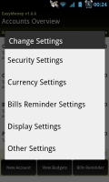 EasyMoney - Settings control
