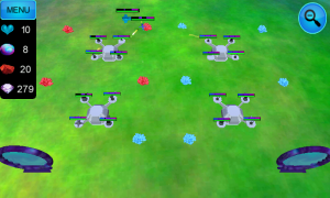 Hostile TD - Enemy progress can be noted by the markers turning red