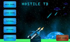 Hostile TD - Main menu