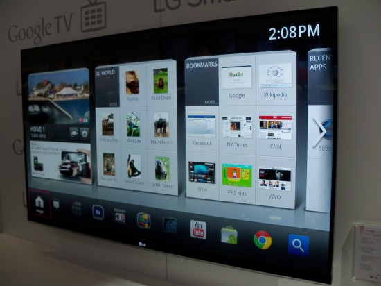 Preview of LG Google TV