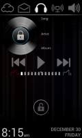 Lucent Lock Screen - Music controls