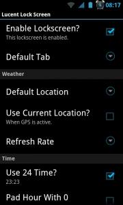 Lucent Lock Screen - Settings