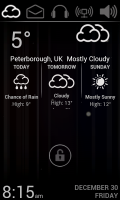 Lucent Lock Screen - Weather