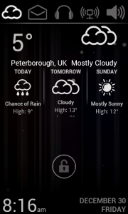 Lucent Lock Screen - Weather includes forecasts