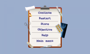 Scrubs - Pause menu