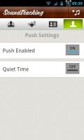 SoundTracking - Push settings