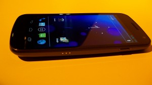 Sprint Galaxy Nexus Side Angle View