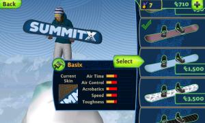 SummitX Snowboarding Shop in the Board Shop