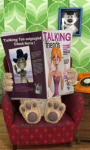 Talking Ben the Dog - Reading newspaper