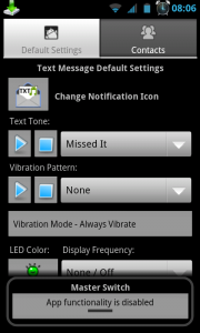 Text Tone - Typical settings