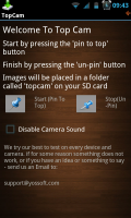 Top Cam - Initialisation screen