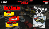 Traffic Panic 3D - Crashed end of level