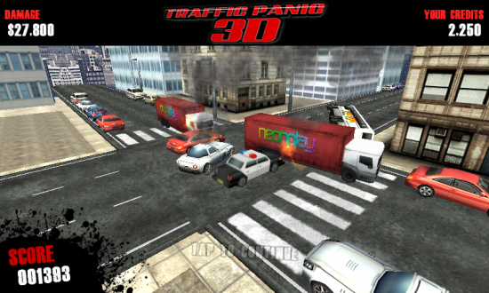 Traffic Panic 3D. Control Traffic or Cause Massive Collisions of Destruction in this Hit Game!