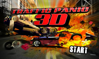 Traffic Panic 3D - Title screen