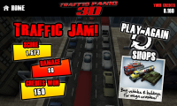 Traffic Panic 3D - Traffic jam end of level screen