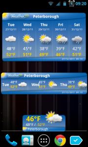 WeatherPro - Widgets