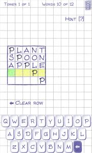 Word Tower - Bottom word set