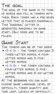 Word Tower - How to play