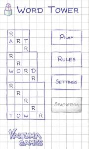 Word Tower - Main menu