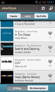 uberHype - Latest tracks