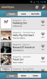 uberHype - Popular list
