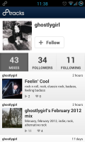 8tracks - User profile