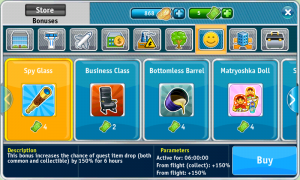 Airport City - Bonus items