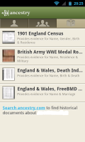 Ancestry - Resources used