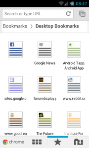Chrome for Android - Desktop Bookmarks