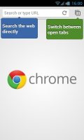 Chrome for Android - Front page
